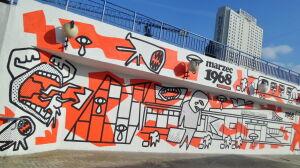 """Nowy mural na """"patelni"""". Ma upamiętniać protesty marca'68"""