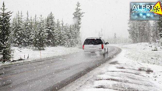 Niebezpiecznie ślisko na drogach. <br />Opady śniegu utrudnią jazdę