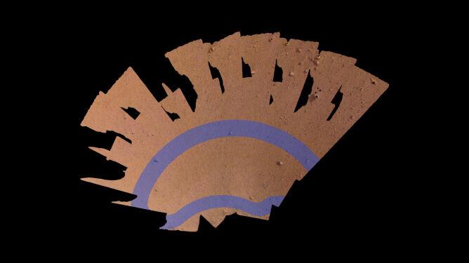Mozaika obszaru roboczego sondy InSight (NASA/JPL-Caltech)