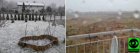 Pierwszy śnieg tej wiosny