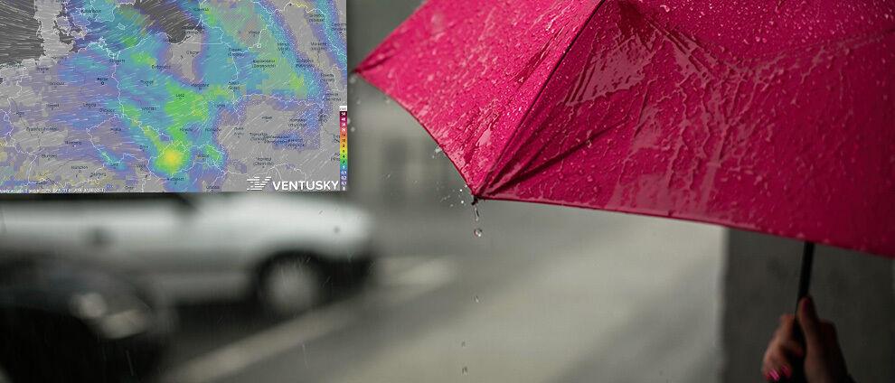 Deszcz i deszcz ze śniegiem, ale z każdym dniem cieplej