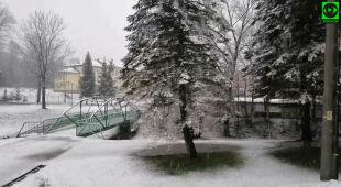 W sylwestra śnieg spadł w Ustrzykach Dolnych