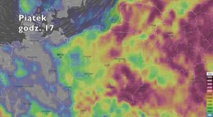 Potencjalne burze w najbliższych dniach (ventusky.com|wideo bez dźwięków)